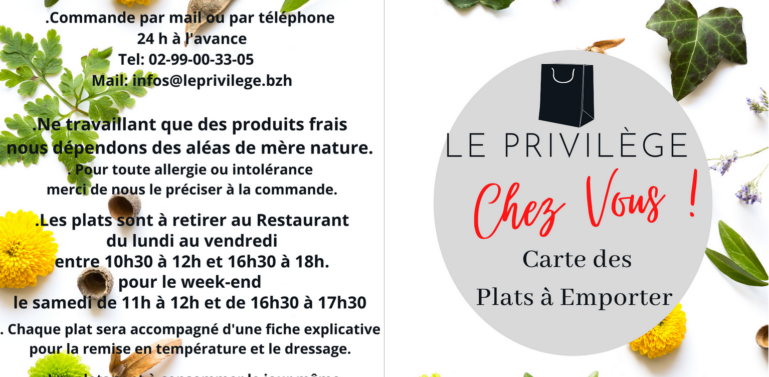 menu chaque week-end